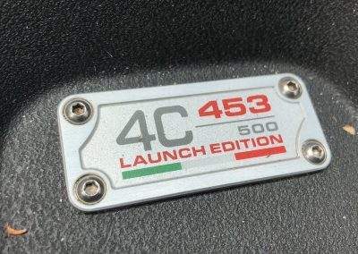 Alfa 4c 453:500 launch edition