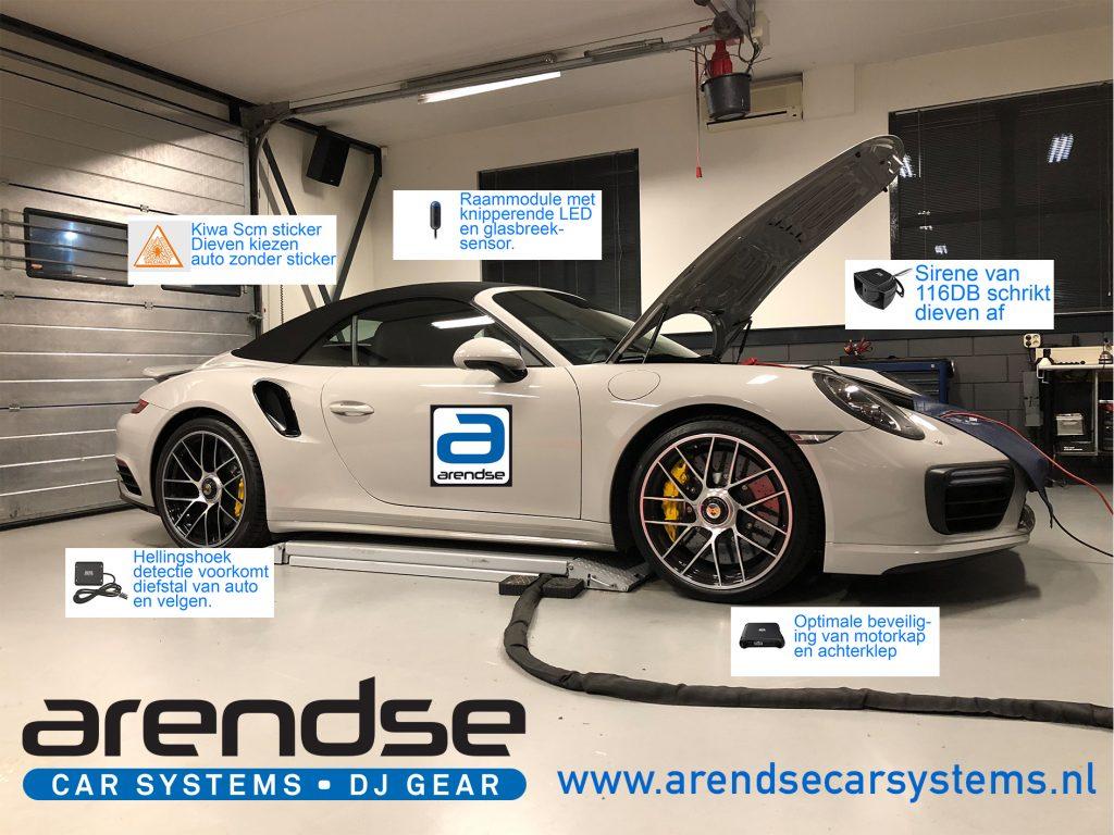 Arendse Car Systems Defa alarm inbouwen uitleg met Porsche