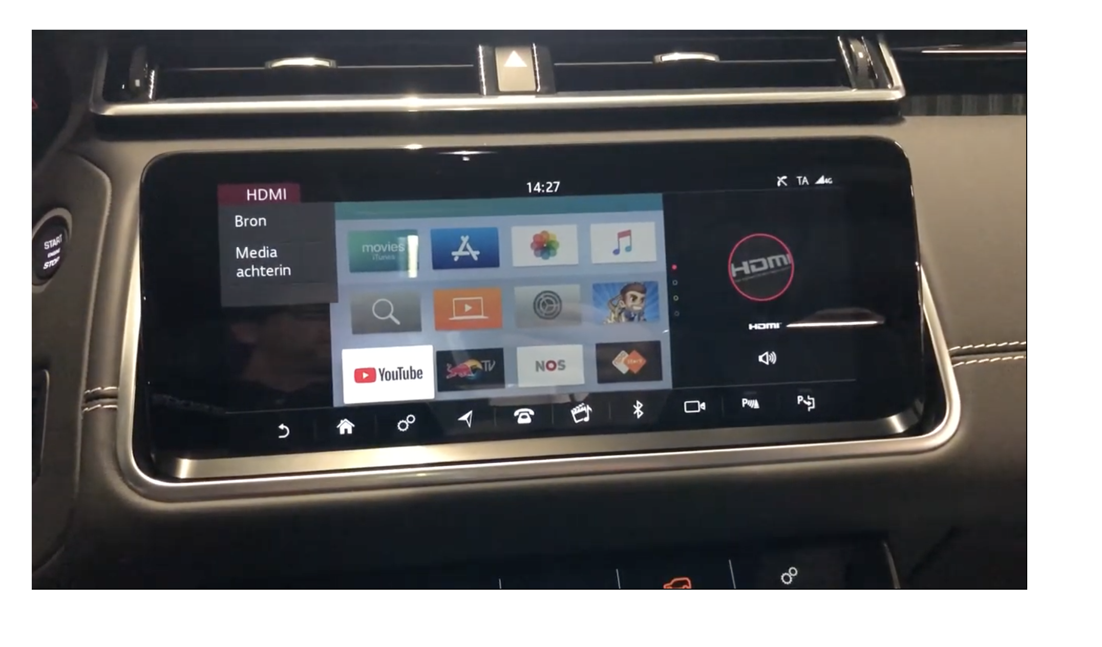 Apple tv kijken in je auto