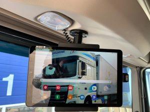 Brodit houder samsung tablet in daf vrachtwagen voorkant